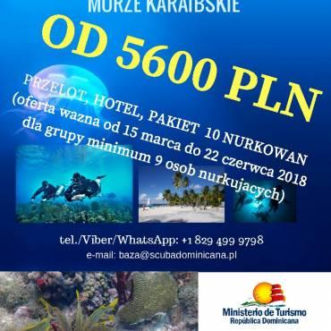 Nurkowanie wDominikanie, Morze Karaibskie już od5600 PLN